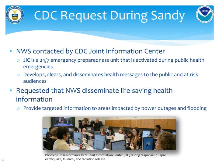 CDC Request During Sandy