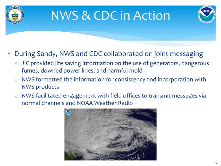 NWS & CDC in Action