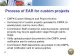 process of ear for custom projects