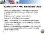 summary of cpuc reviewers role