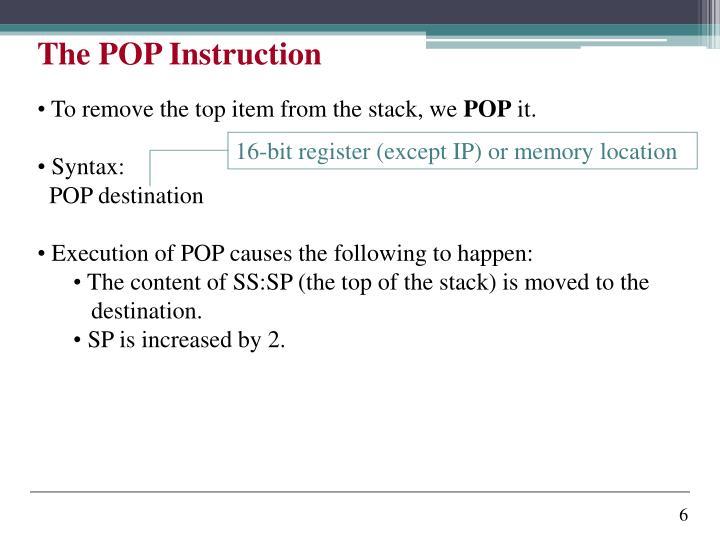 16-bit register (except IP) or memory location