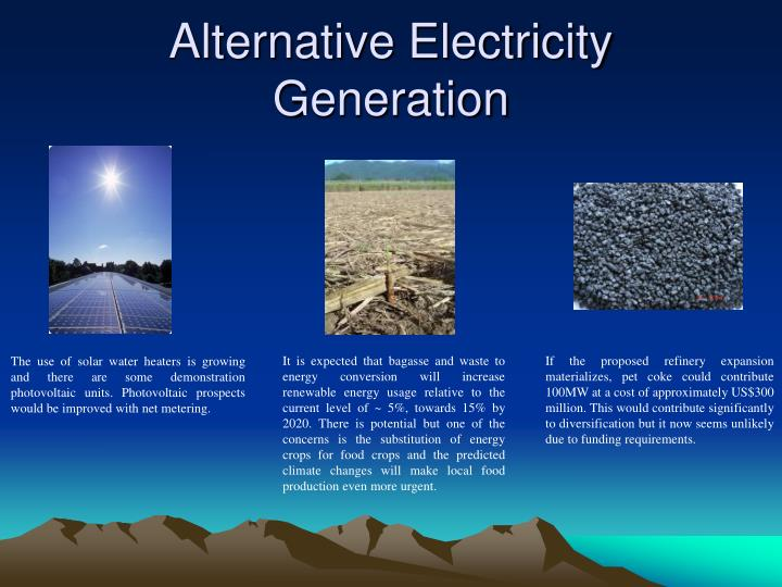 Alternative Electricity Generation