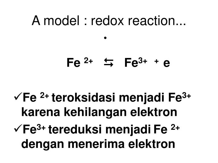 A model : redox reaction...