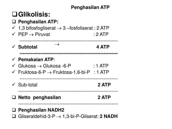 Penghasilan ATP