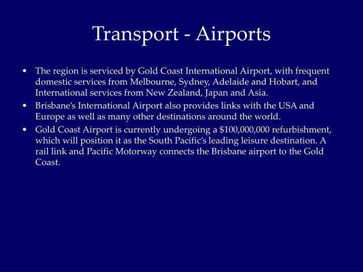 Transport - Airports