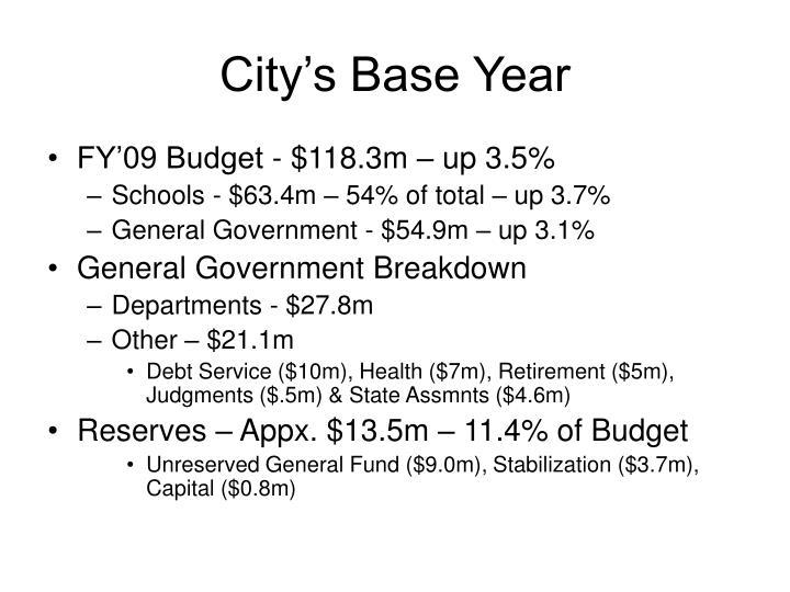 City's Base Year