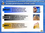 compusearch provides software and services to help governments spend funds