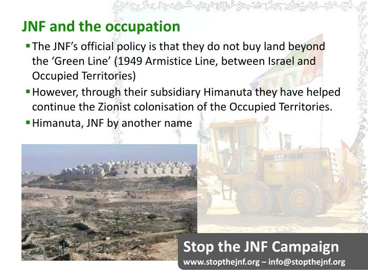 JNF and the occupation