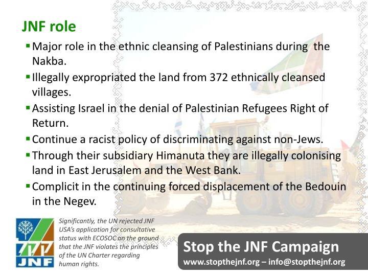 JNF role
