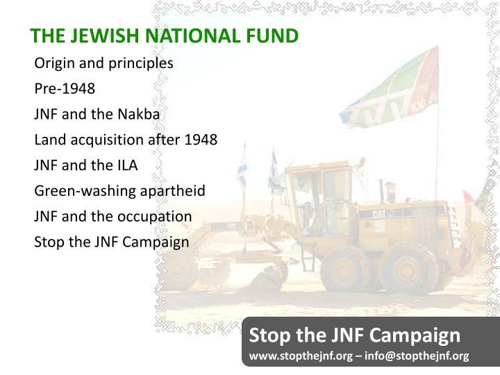 THE JEWISH NATIONAL FUND