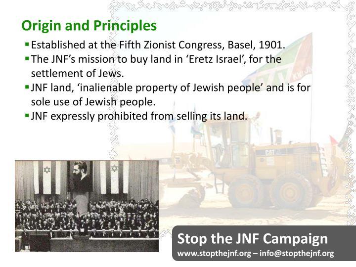 Origin and Principles