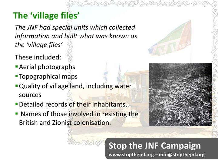 The 'village files'
