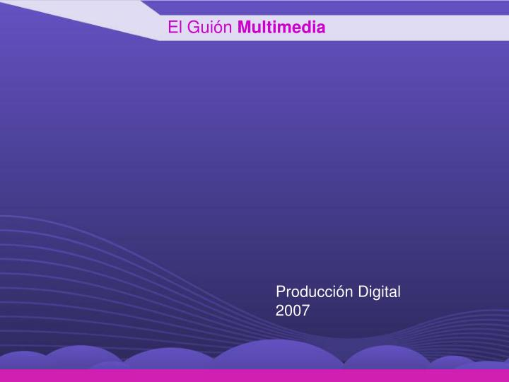 el gui n multimedia