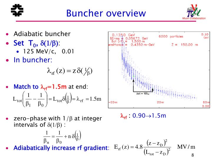 Buncher overview
