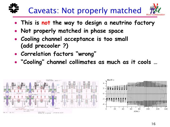 Caveats: Not properly matched