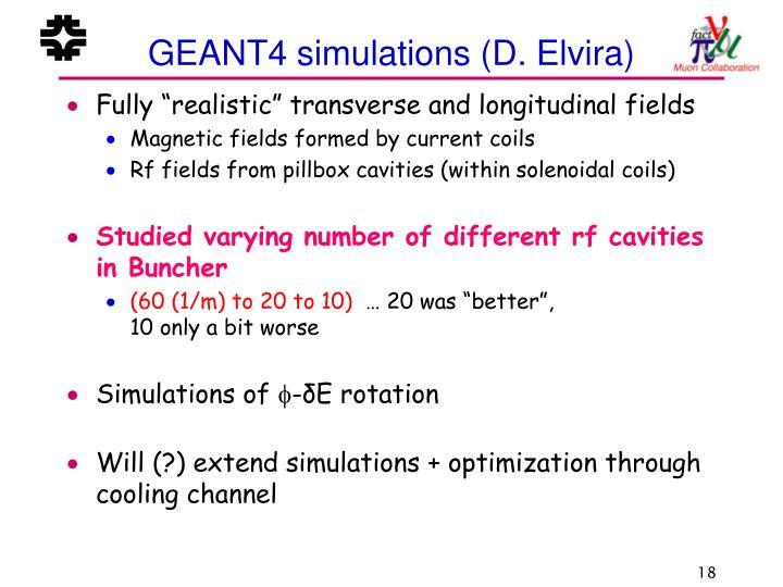 GEANT4 simulations (D. Elvira)