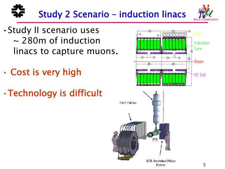 Study 2 Scenario – induction linacs