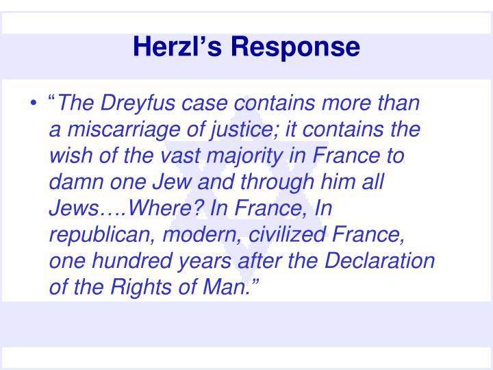 Herzl's Response