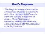 herzl s response