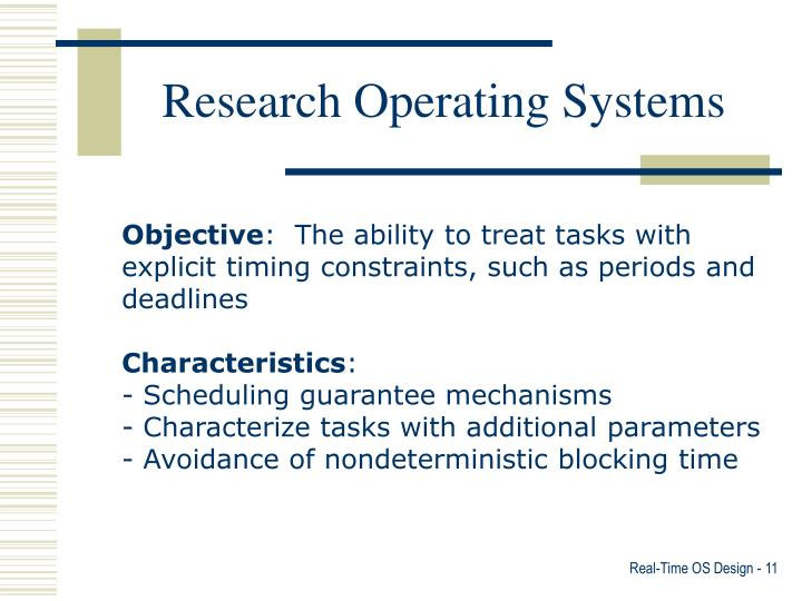 Research Operating Systems