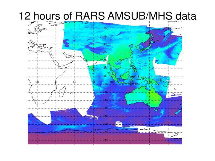 12 hours of RARS AMSUB/MHS data