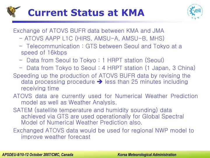 Current Status at KMA