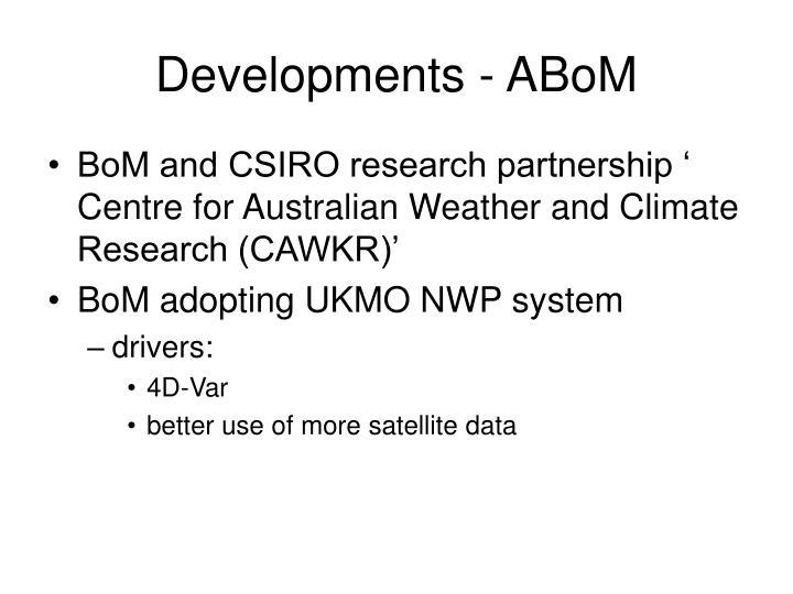 Developments - ABoM
