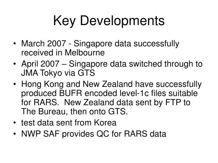 Key Developments