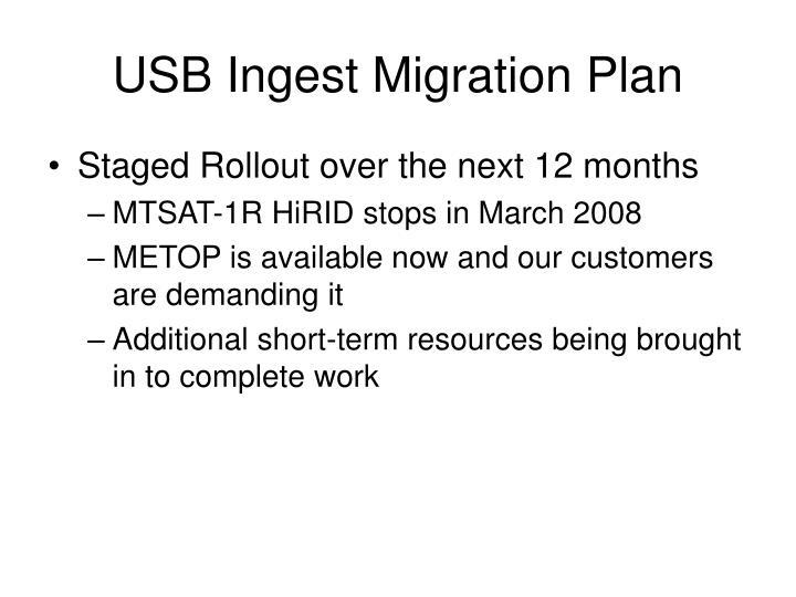 USB Ingest Migration Plan