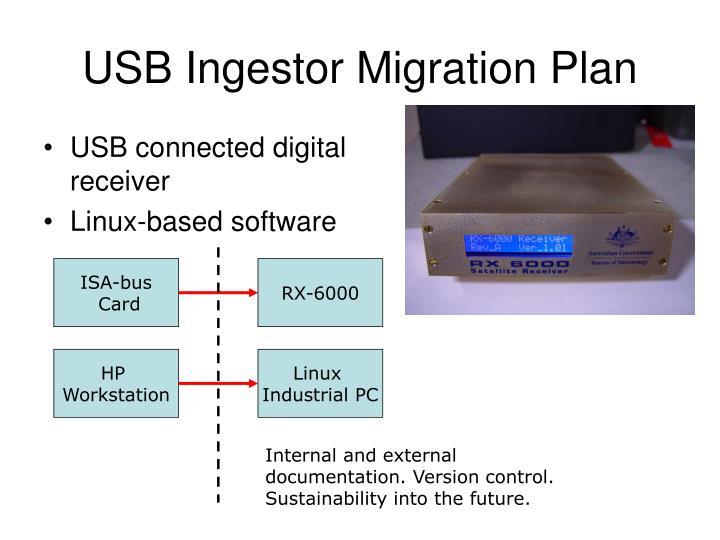 USB Ingestor Migration Plan