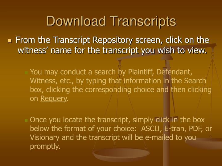 Download Transcripts
