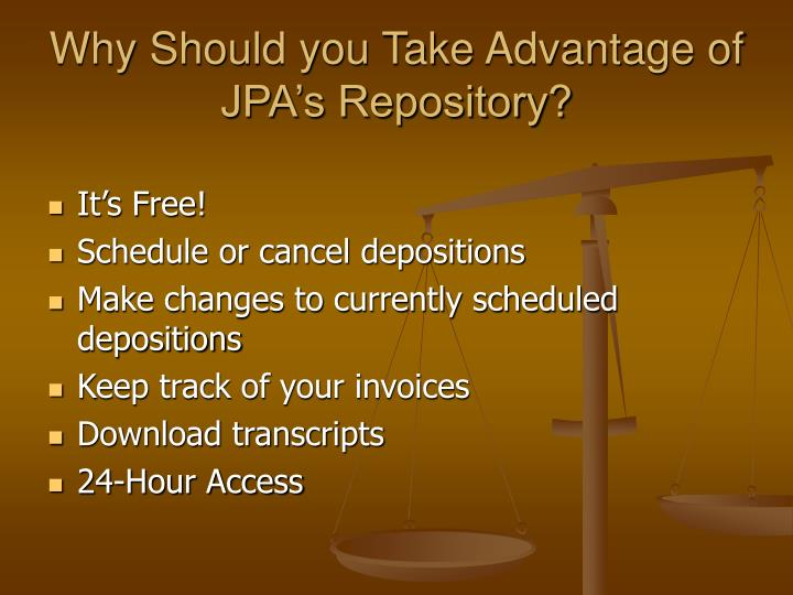 Why Should you Take Advantage of JPA's Repository?