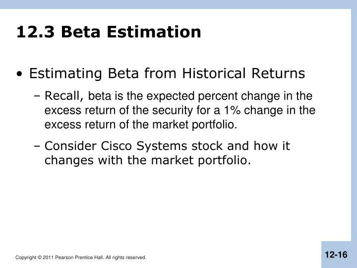 12.3 Beta Estimation