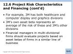 12 6 project risk characteristics and financing cont d