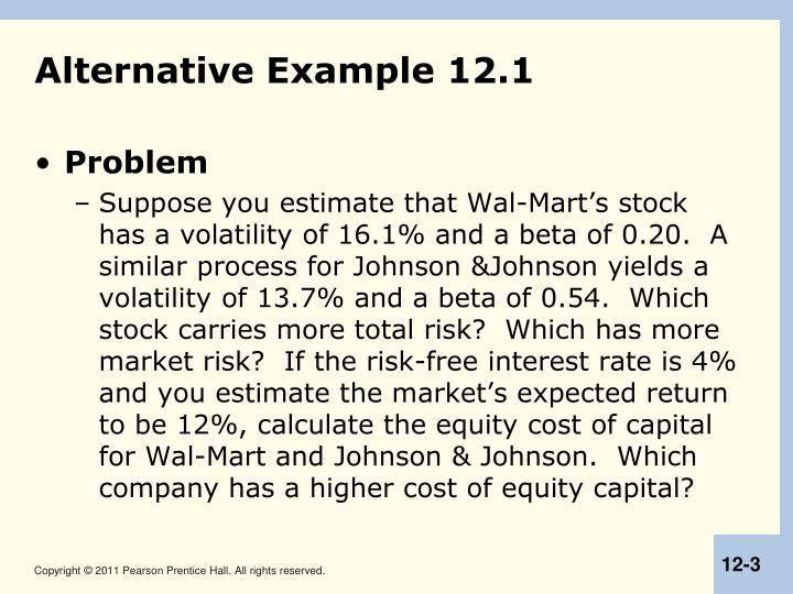 Alternative Example 12.1