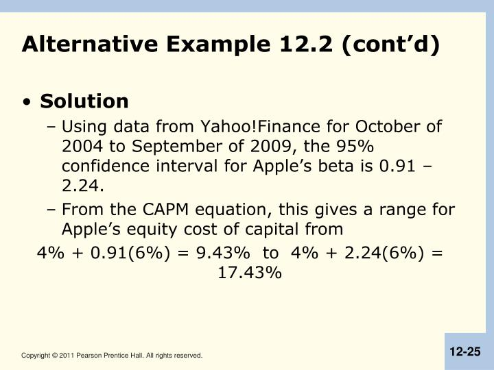 Alternative Example 12.2 (cont'd)