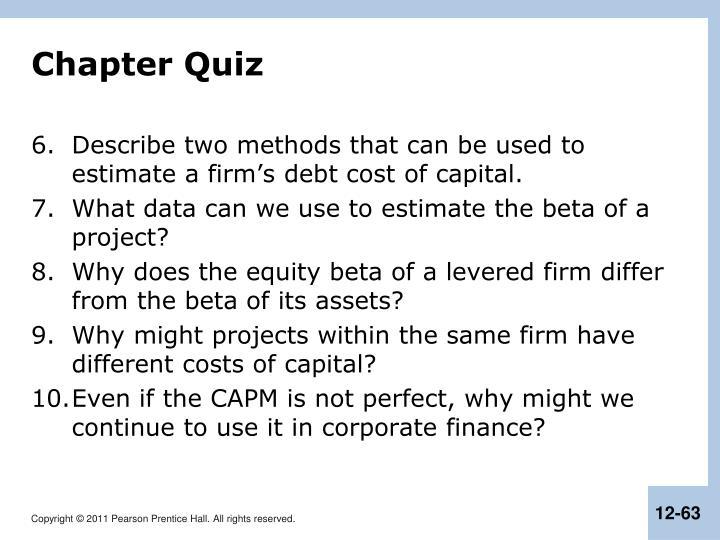 Chapter Quiz