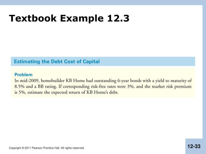Textbook Example 12.3