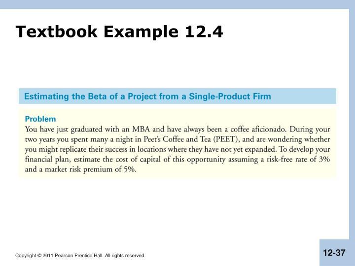 Textbook Example 12.4