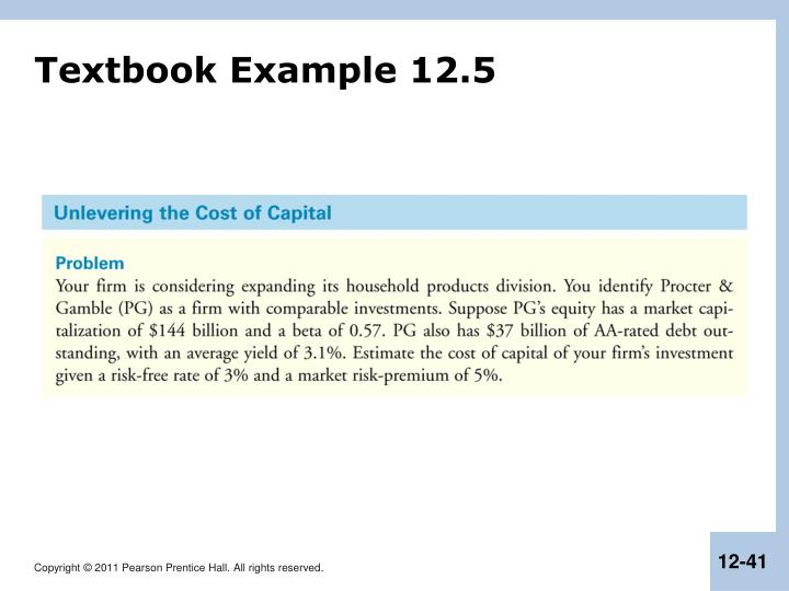 Textbook Example 12.5