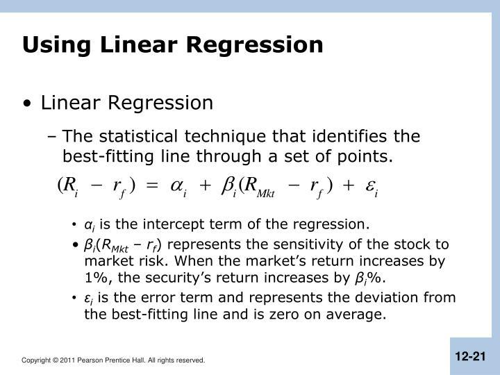Using Linear Regression