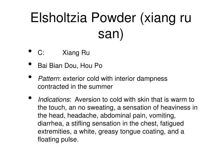 Elsholtzia Powder (xiang ru san)