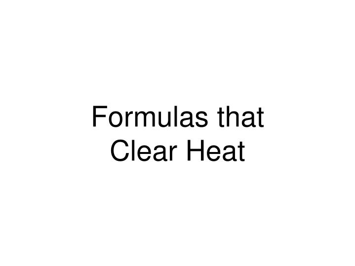 Formulas that