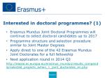 interested in doctoral programmes 1