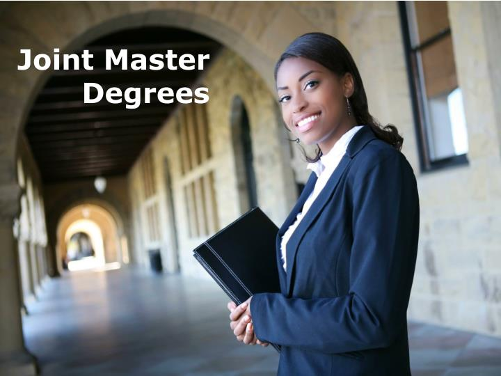 Joint Master Degrees