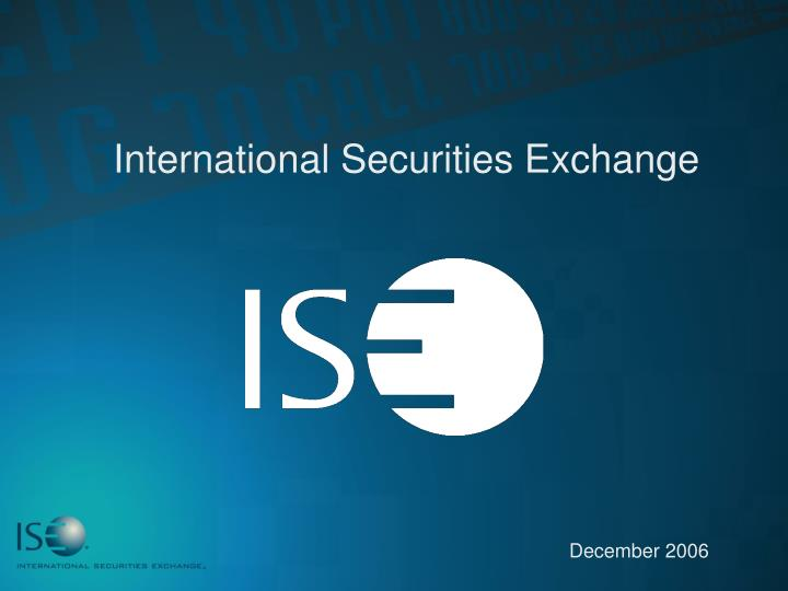 international securities exchange