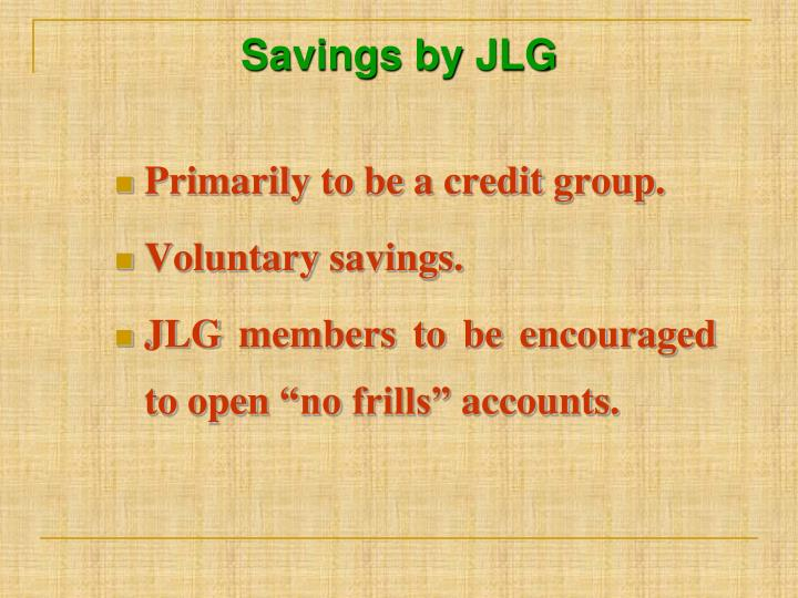 Savings by JLG