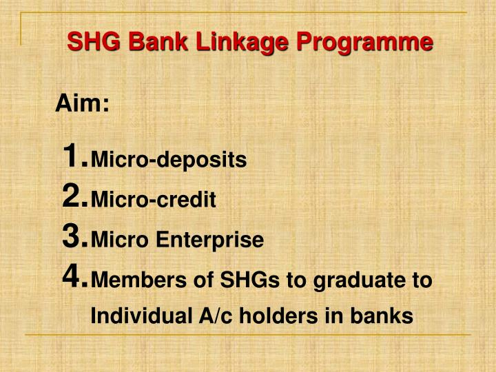 SHG Bank Linkage