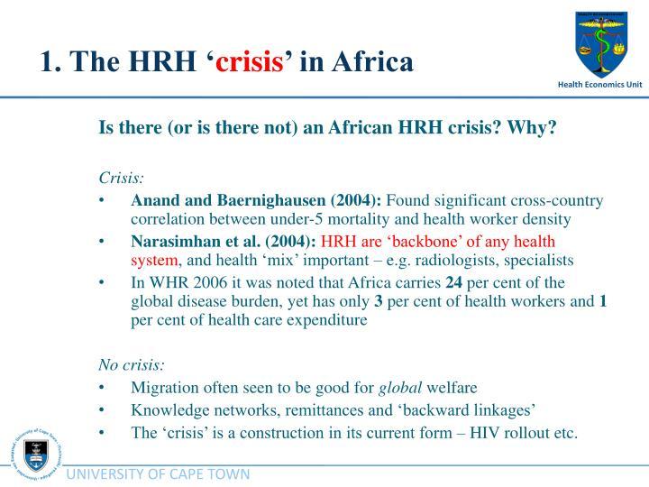 1. The HRH '
