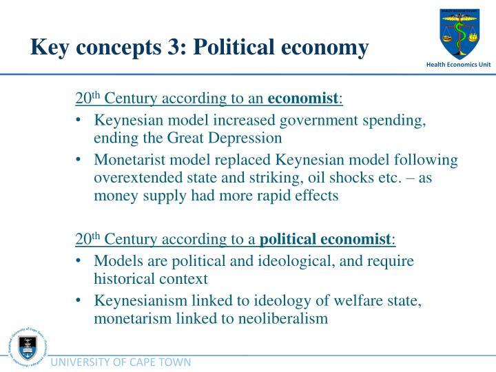 Key concepts 3: Political economy